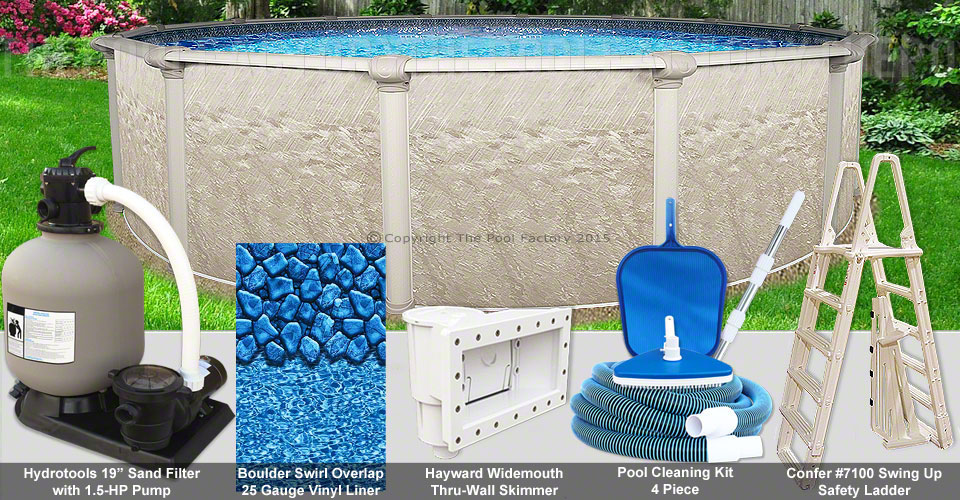 24 39 x52 cameo round pool package for Pool packages