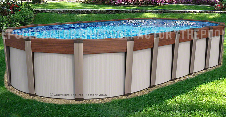 Contempra Oval Above Ground Pools The Pool Factory