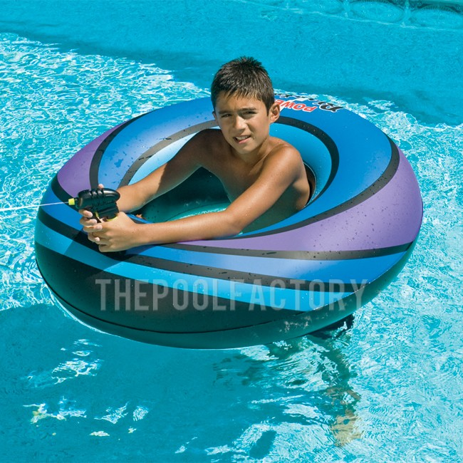 "Swimline 40"" Inflatable Super Squirter Ring (Blue)"