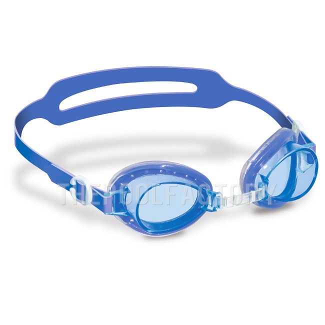 Swimline Aruba Kids Jelly Goggles with Case (Blue)
