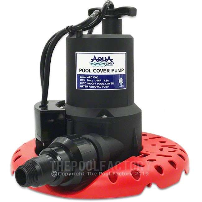AquaPro 1/4 HP Automatic Pool Cover Pump w/ Leaf Protector APC3000