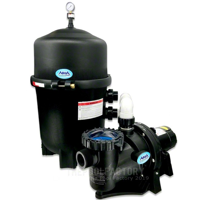 AquaPro 425 SQ. FT. Mega Quad Cartridge Inground Pool Filter System with 1.5-HP Apex Self Priming Pump