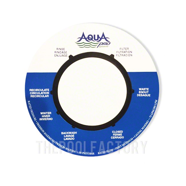 Aquapro Top Mount Valve Label