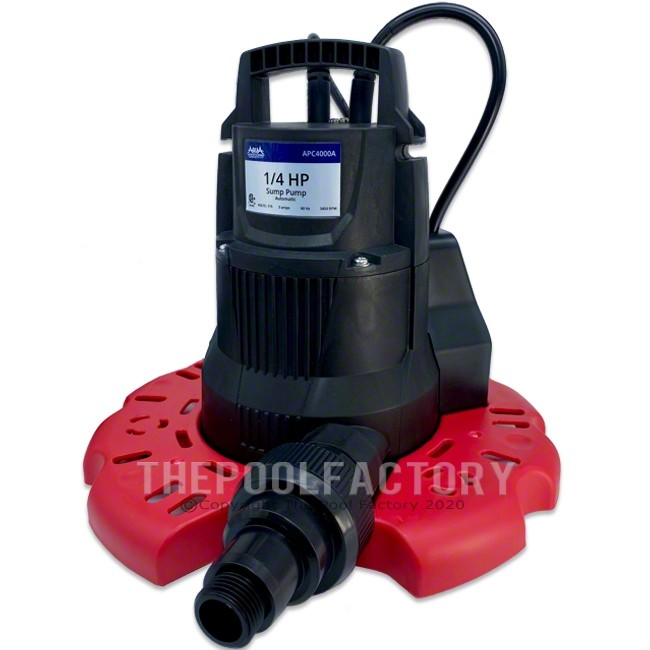 AquaPro Automatic Pool Cover Pump 3,000GPH w/ Leaf Protector APC4000A