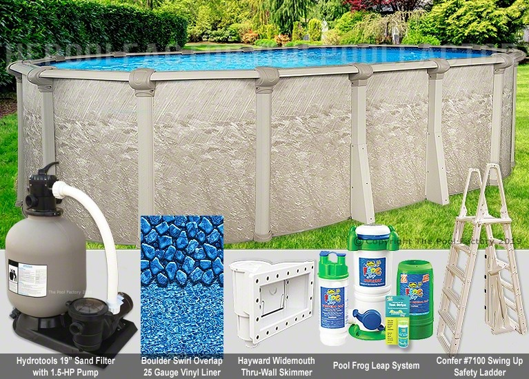 """12'x24'x52"""" Cameo Oval Pool Package"""