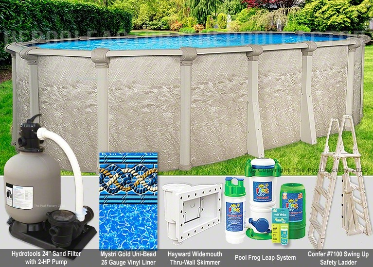 """18'x33'x54"""" Cameo Oval Pool Package"""