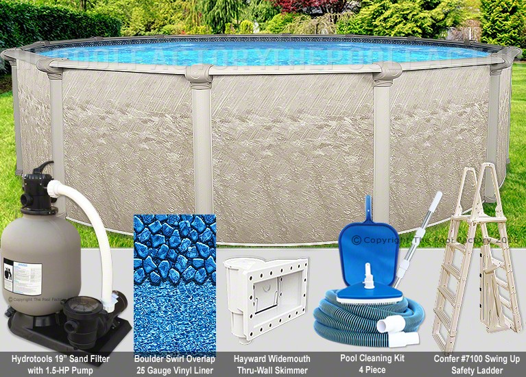 "24'x52"" Cameo Round Pool Package"
