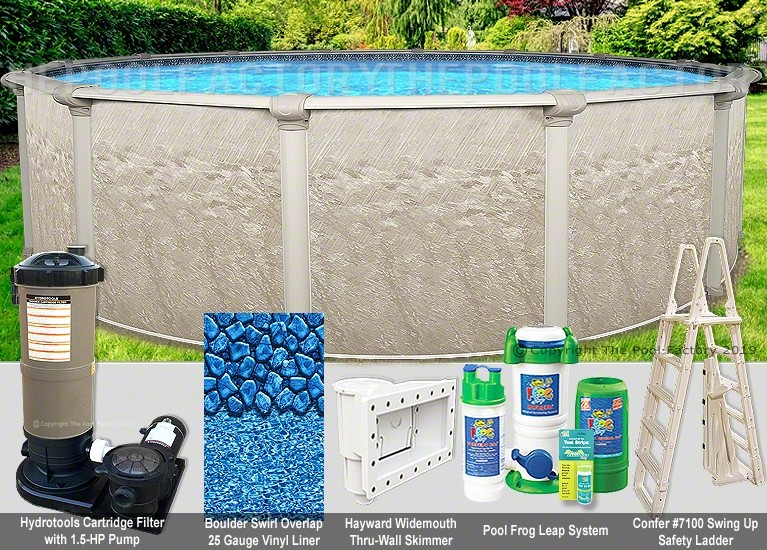 "12'x52"" Cameo Round Pool Package"