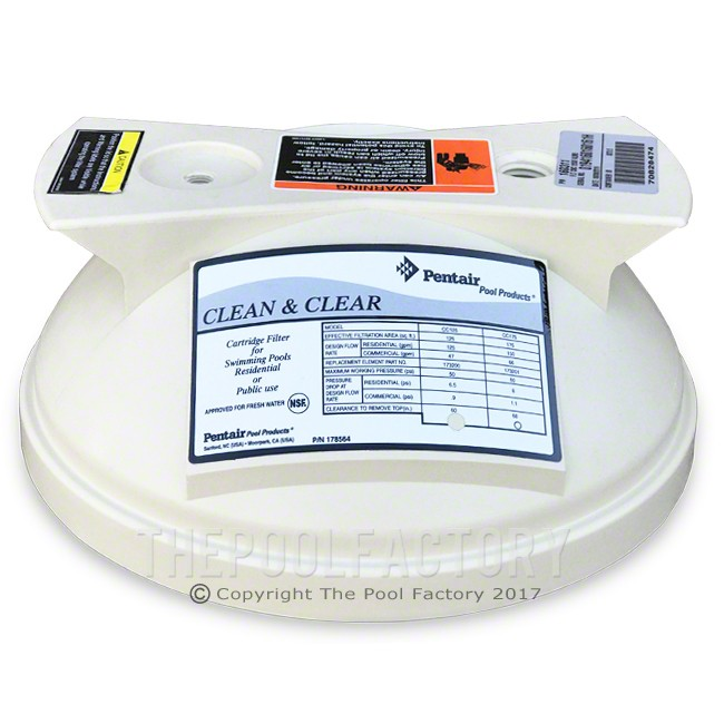 Pentair Clean & Clear 50/100/125 Filter Lid 178553