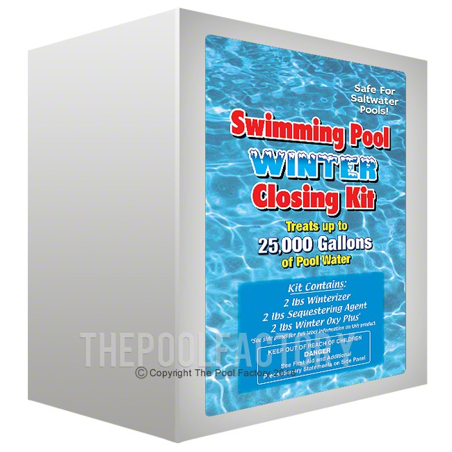 8'X12' Oval Winterizing Kit for Chlorinated or Saltwater Pools