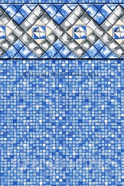"21'x52"" Round Uni-Bead Diamond Cube Liner - 25 Gauge"