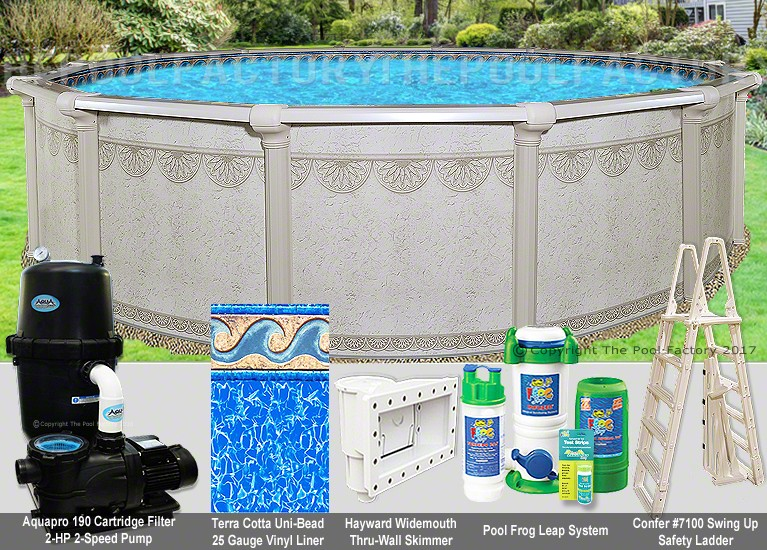"30'x52"" Hampton Round Pool Package"