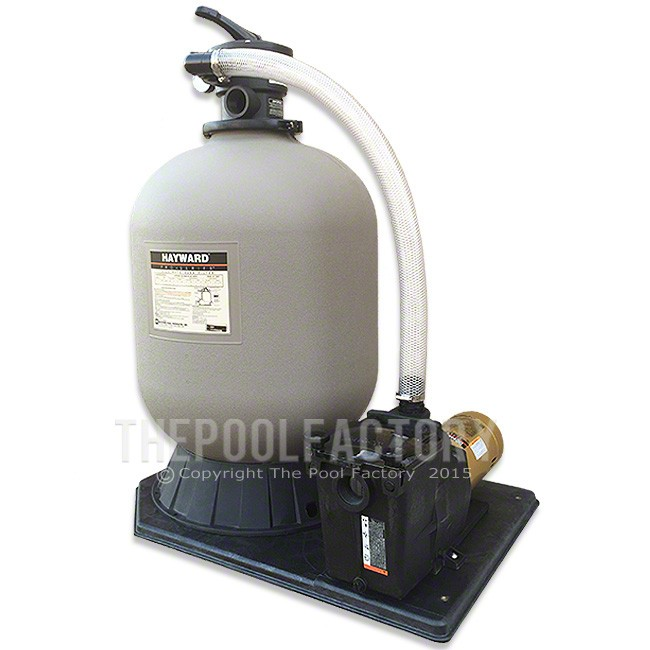 hayward pro series sand inground pool filter with 1-hp super pump