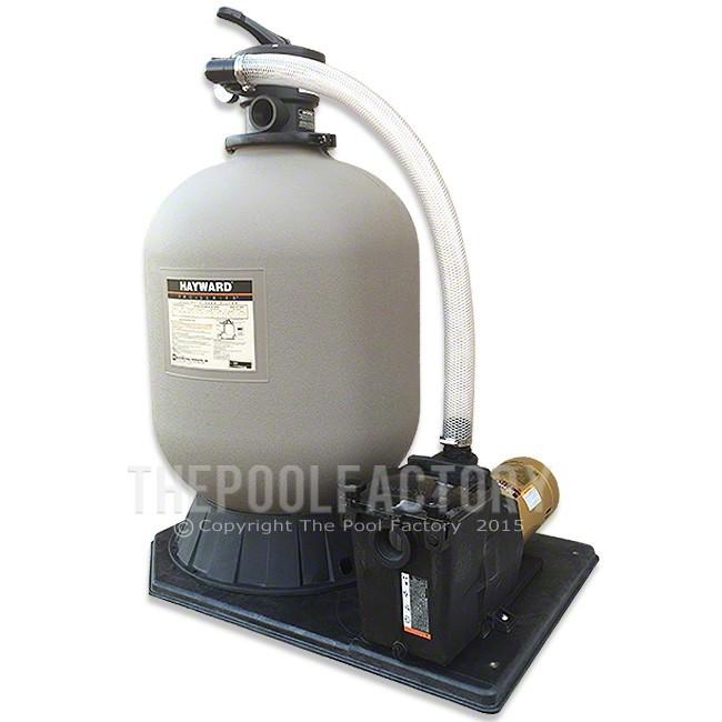 Hayward Pro Series S220T Sand Inground Pool Filter System with 1-HP Super Pump & Base Kit
