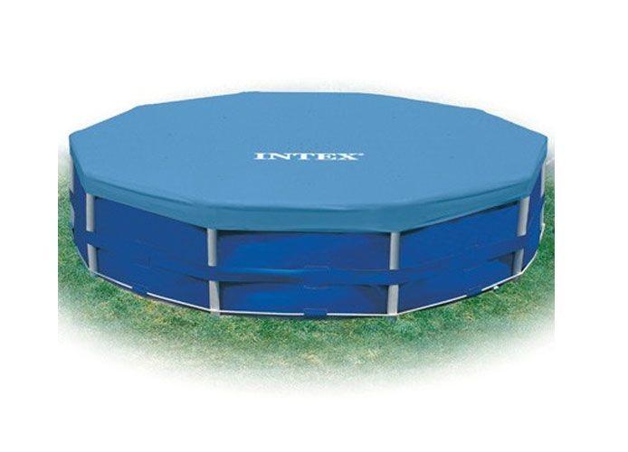 Intex 12' Round Metal Frame Pool Cover 58411E