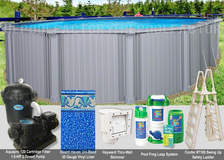 "12'x24'x54"" Intrepid Oval Pool Package"