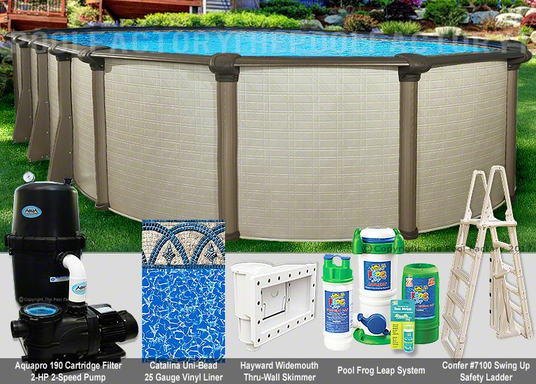 "21'x43'x54"" Melenia Oval Pool Package"