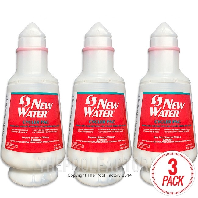 New Water In-Ground Cycler Chlorine Pac 407C - 3 Pack