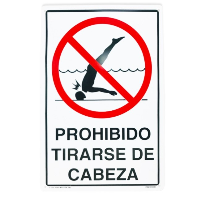 "12""x18"" No Diving Sign In Spanish"