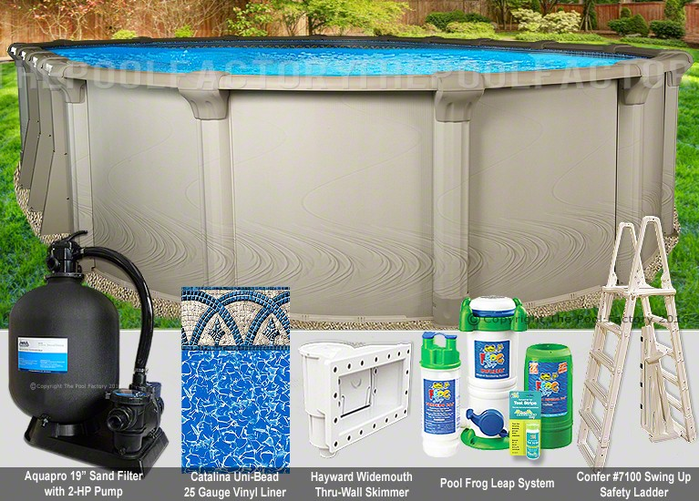 "15'x26'x54"" Quest Oval Pool Package"