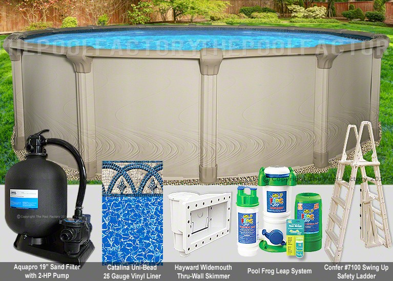 "21'x54"" Quest Round Pool Package"