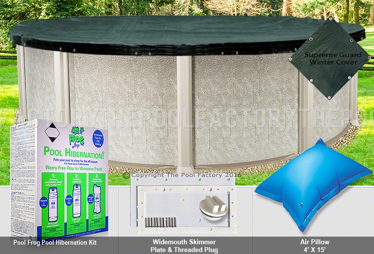 30' Round Supreme Closing Package for Pool Frog System (WideMouth Plate)