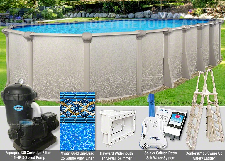 "12'x24'x52"" Saltwater 5000 Oval Pool Package"