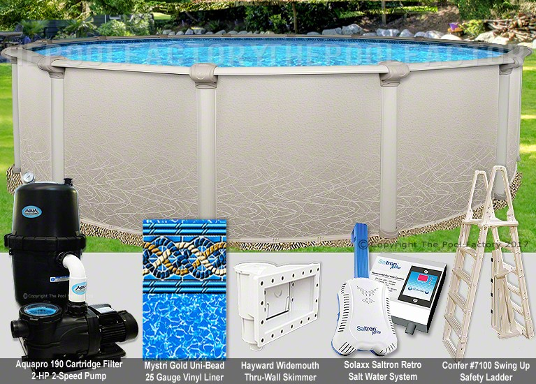 "24'x52"" Saltwater 5000 Round Pool Package"