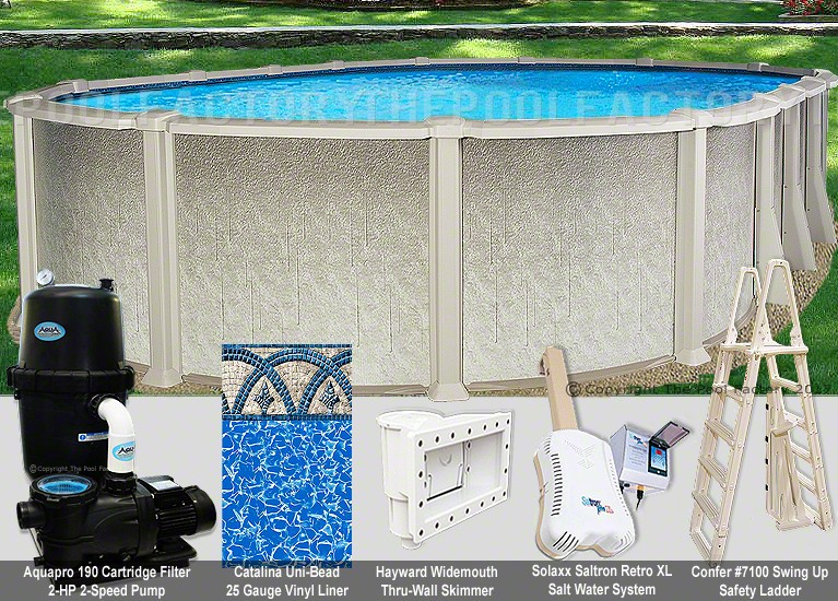 "18'x33'x54"" Saltwater 8000 Oval Pool Package"