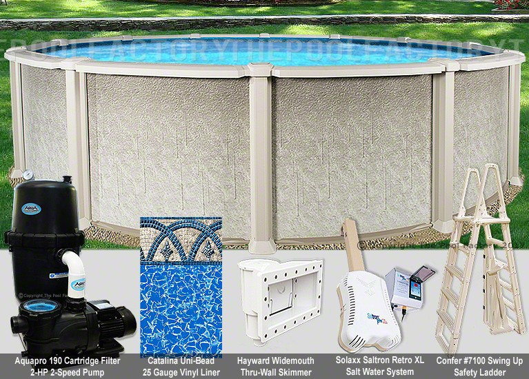 "30'x54"" Saltwater 8000 Round Pool Package"