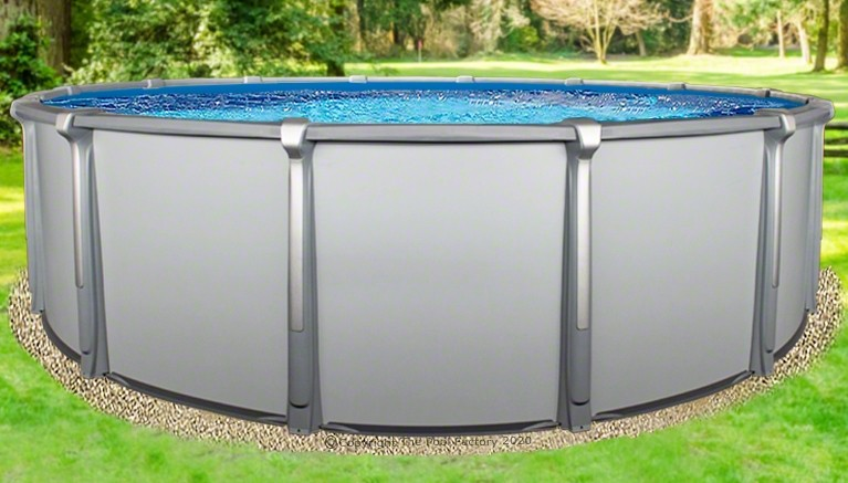 """21'x54"""" Saltwater Aurora Round Pool with Resin Composite Wall"""