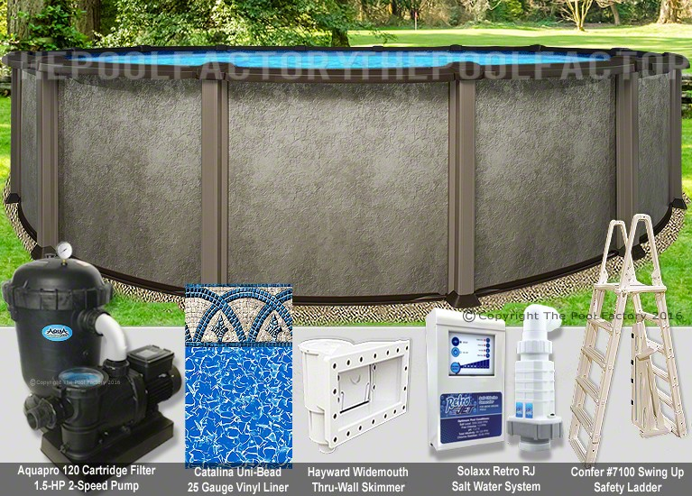 "12'x54"" Saltwater LX Round Pool Package"