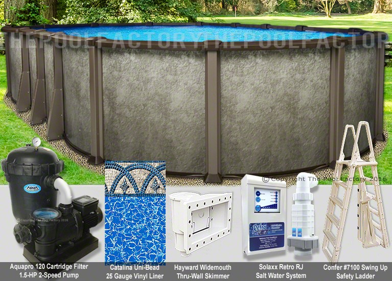 "12'x16'x54"" Saltwater LX Oval Pool Package"