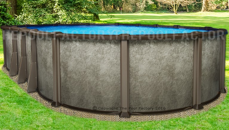 "12'x24'x54"" Saltwater LX Oval Pool"