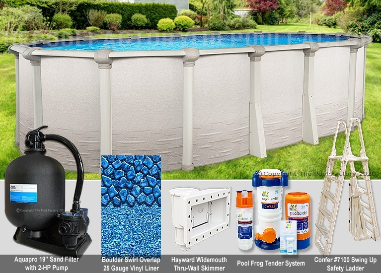 """8'x15'x52"""" Signature RTL Oval Pool Package"""