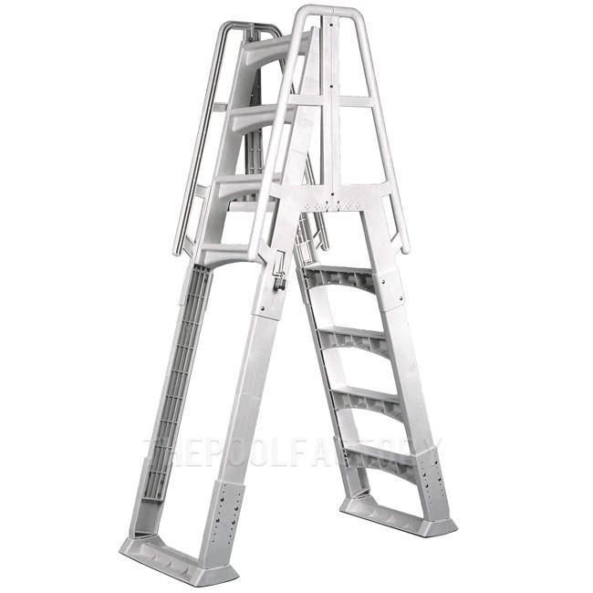 Vinyl Works Slide & Lock A-Frame Ladder - White