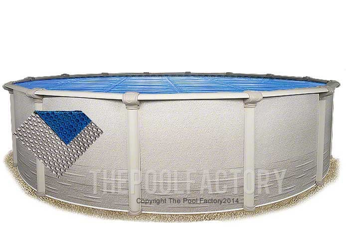 24' Round Space Age Silver/Blue Solar Cover