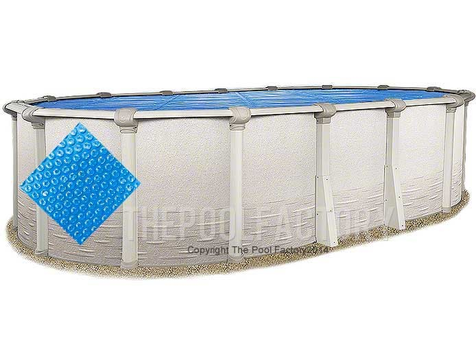 12'x21' Oval Heavy Duty Blue Solar Cover