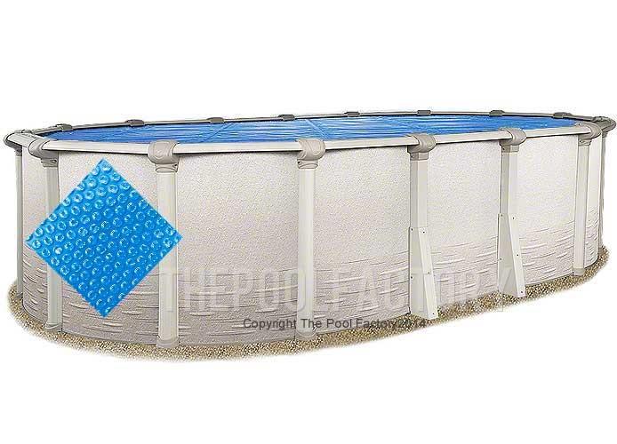 18'x33' Oval Heavy Duty Blue Solar Cover