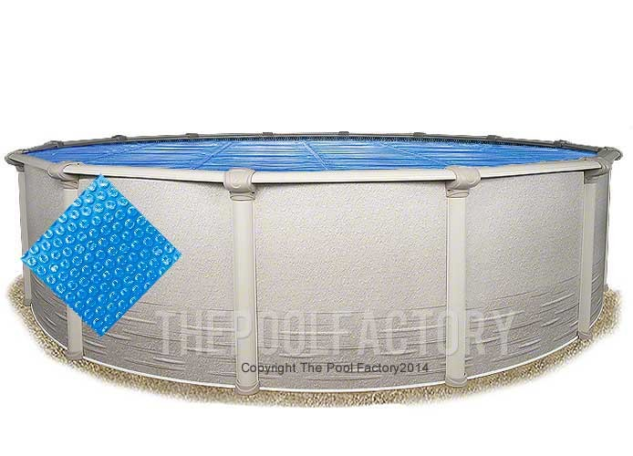 15' Round Heavy Duty Blue Solar Cover