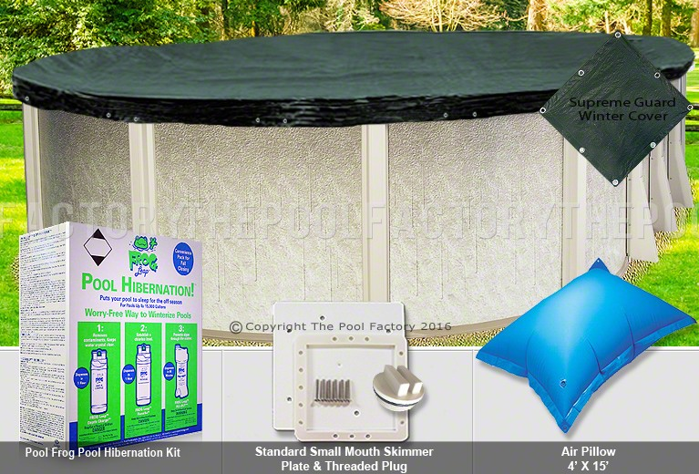 18'x33' Oval Supreme Closing Package for Pool Frog System (Small Mouth Plate)