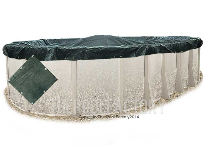 16'x32' Oval Supreme Guard Winter Cover