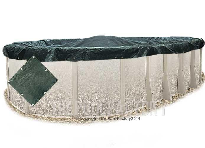8'x19' Oval Supreme Guard Winter Cover