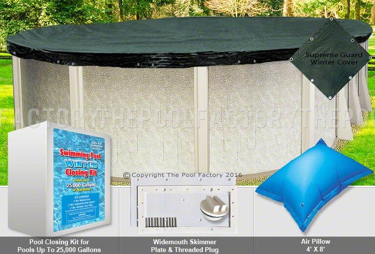 12'x16' Oval Supreme Closing Package for Saltwater Systems (WideMouth Plate)