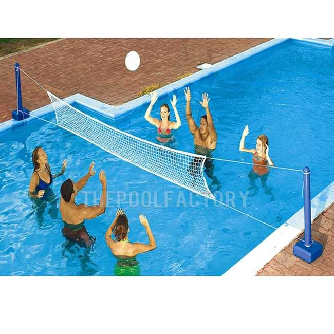 Swimline Cross Pool Volley InGround Volleyball Game 9186