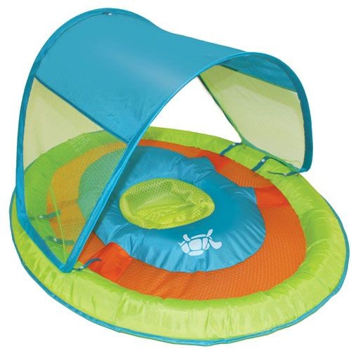 SwimWays Baby Spring Float Sun Canopy Green Turtle 11606