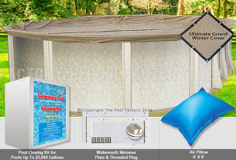 12'x20' Oval Ultimate Closing Package for Saltwater Systems (WideMouth Plate)
