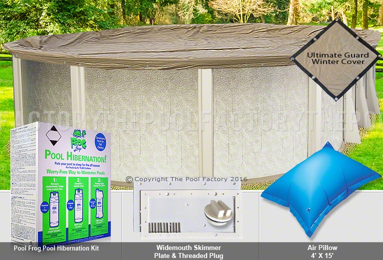 18 X33 Oval Ultimate Closing Package For Pool Frog System