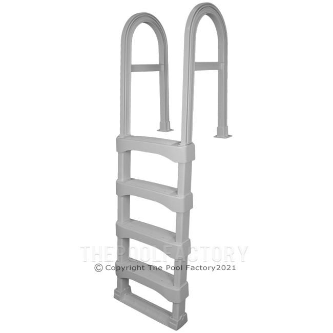 Vinyl Works SLD Snap Lock Resin In Pool Deck Ladder - Grey