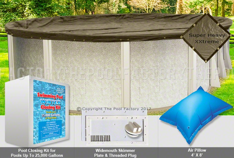 12'x20' Oval Super Heavy XXtreme Closing Package for Saltwater Systems (WideMouth Plate)
